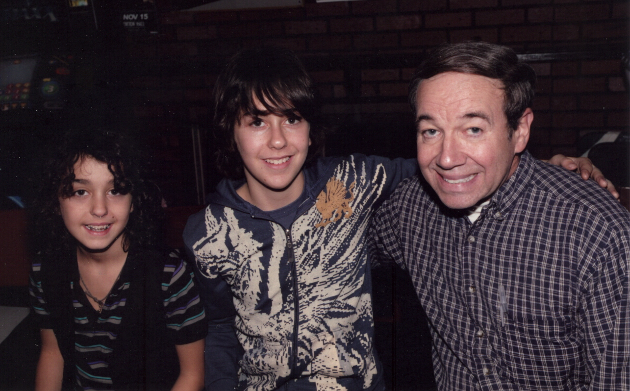 Michael Townsend Wright with Alex and Nat Wolff